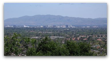 Silicon Valley as seen from the top of Harwood Road in Los Gatos