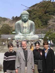 Brian, Jim, Clair and Mary in Japan 2003