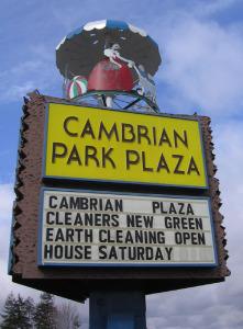 Cambrian Park Plaza sign