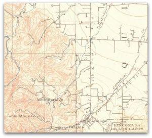 Saratoga Historical Map