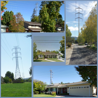 High Voltage Power Lines Collage