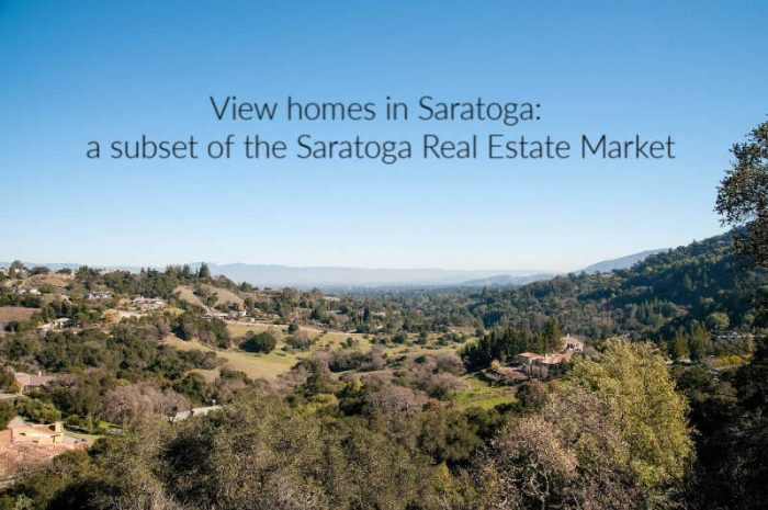 Saratoga View homes - a subset of the Saratoga real estate market