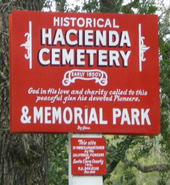 Hacienda Cemetery and Memoria Park in New Almaden, San Jose CA