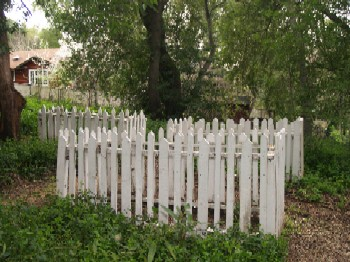 Picket Fenced Graves - Hacienda Cemetery, New Almaden, San Jose CA