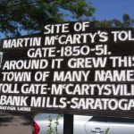 Martin McCarty's Toll Gate Sign