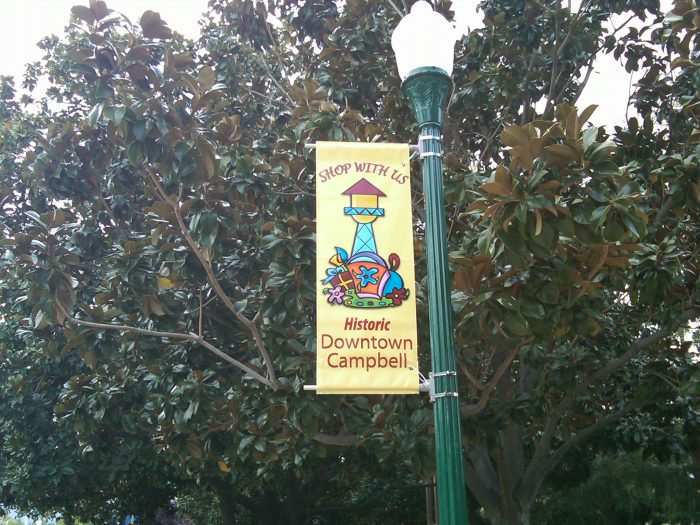 Downtown Campbell business banner