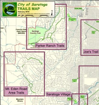 Saratoga trails map