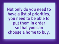Priorities for home buying