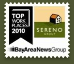 Top Places to Work in the Bay Area ranks Sereno as #1 for 2010