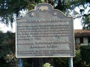 Adobe Plaque in Santa Clara