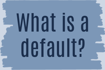 what is a default