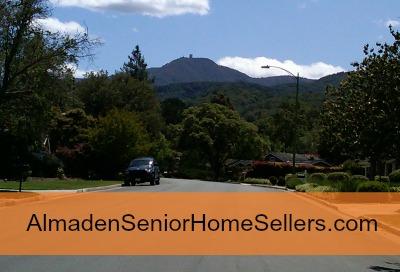Almaden senior home sellers - smaller - Mt Umunhum from cc area of Almaden