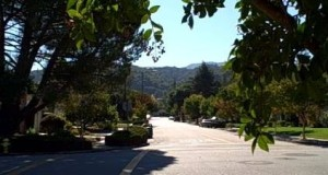 View of Hills from Strathmore neighborhood in Los Gatos