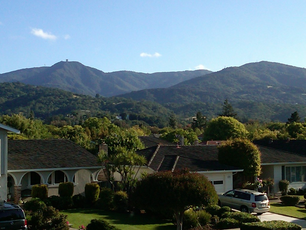 Almaden Valley view of the hills from Shadowbrook area