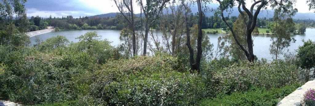 Vasona Lake from Hillside above University Avenue (Wild Way) - view spot not open to the public