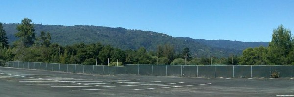Hills over Saratoga CA from West Valley College in Saratoga