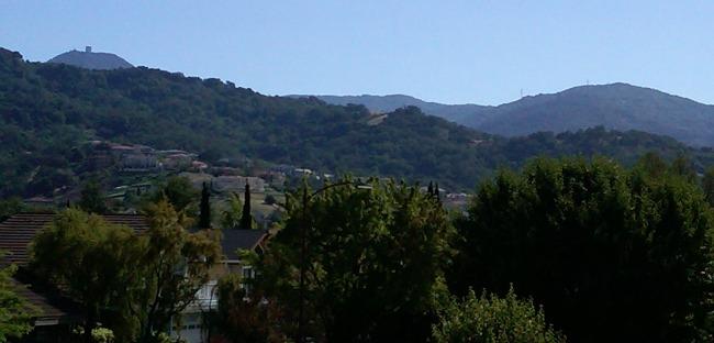 Almaden Valley in San Jose (95120) - view of Mt. Umunhum and Santa Cruz Mountains