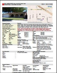 "Page 1 of 6 on the ""agent full"" mls printout of a house recently sold (my listing)"
