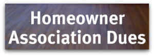 Homeowner Association Dues
