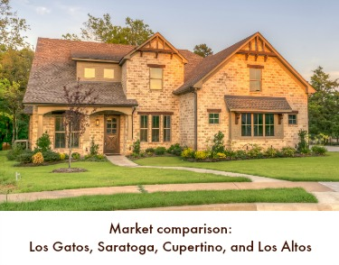 Market comparison: Los Gatos, Saratoga, Cupertino and Los Altos