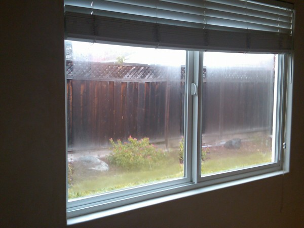 Seal failure of dual pane window