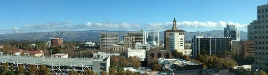 View from a high rise in downtown San Jose, looking east - Autumn 2011