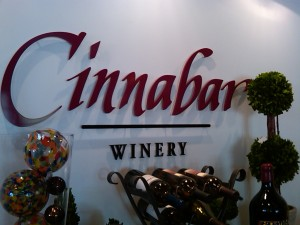 Cinnabar winery sign (Big Basin Way, Saratoga)
