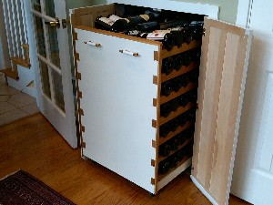 Pull out wine rack for under staircase
