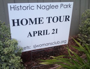 Historic Naglee Park Home Tour in San Jose was on the same date, April 21, back in 2012 for the 3rd annual tour.