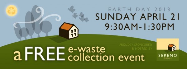 Sereno e-waste collection event April 21 2013