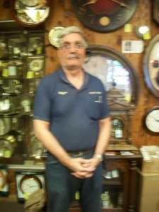 Wayne Schaich of Almaden Clocks in San Jose