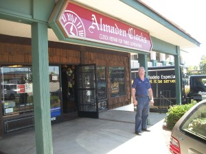 Wayne Schaich of Almaden Clocks in San Jose, CA