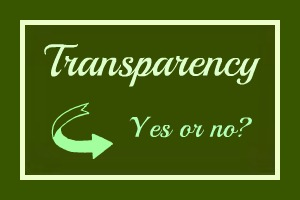 Transparency yes or no