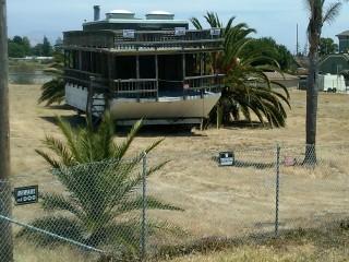 Houseboat on land in Alviso