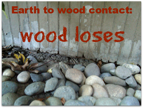 Earth to Wood Contact wood loses