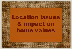 Location issues and impact on home values