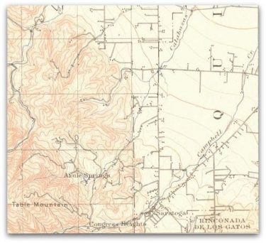 Saratoga Historical Map Shadow