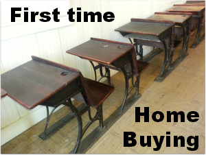 Buy a home - school desk photo as there's much to learn!