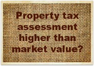 Property tax assessment high