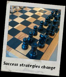 Success strategies change