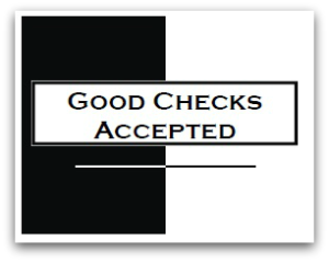 Good checks accepted