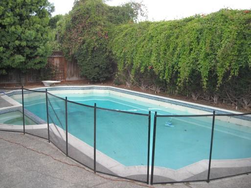 Pool full of water