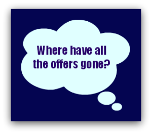Where have all the offers gone?