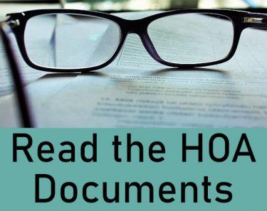 Read the HOA Documents