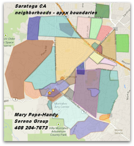Saratoga California neighborhoods