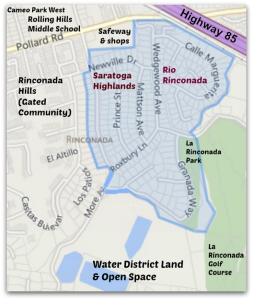 Saratoga HighlandsRio Rinconada in west Los Gatos