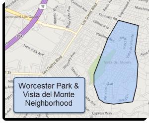Vista del Monte Map