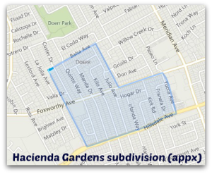 Hacienda Gardens appx boundaries