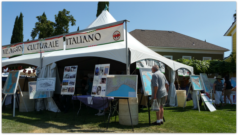 Little Italy Italian Family Festa booth