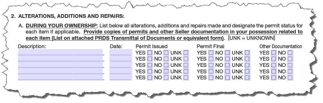 PRDS SCC alterations and permits
